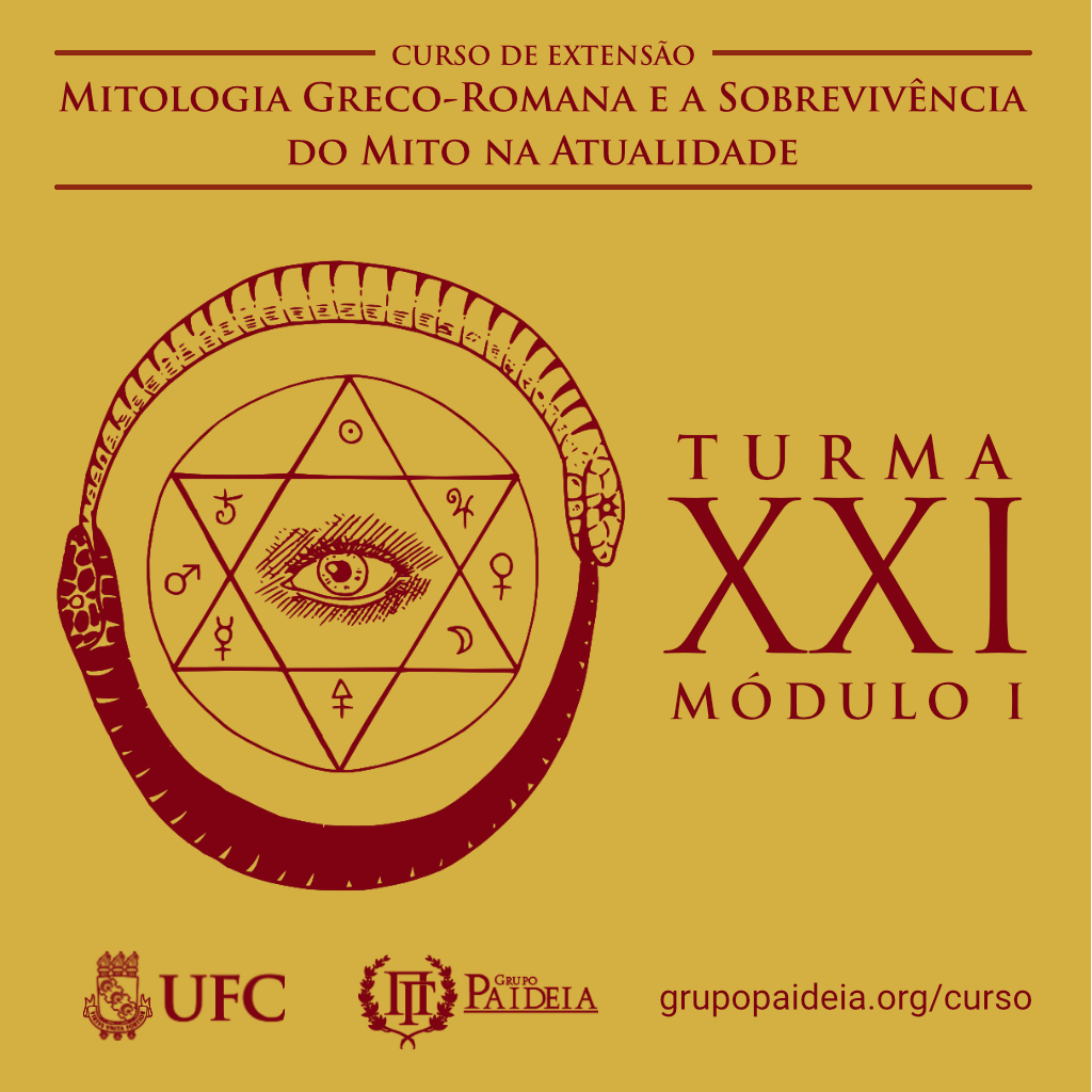 Cartaz do curso de mitologia
